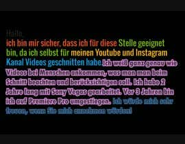 #1 dla GERMAN speaking Video Editor needed for Youtube channel przez abdu358