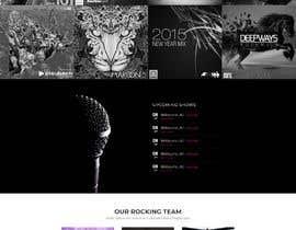 #38 para Build a home page design for a musician de ivanstefanovickg