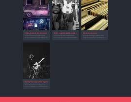 #47 para Build a home page design for a musician de hosainarman52