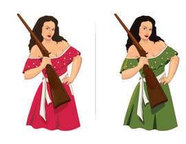 #62 para Logo Illustration Women in Dress Flexing muscle holding rifle de akarmakar62