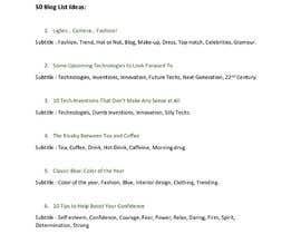 #7 para Fifty Blog Title Ideas de SadiaImam