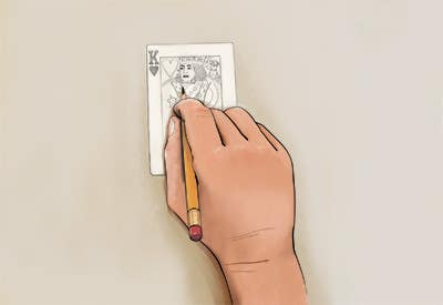 """Inscrição nº                                         16                                      do Concurso para                                         Illustration of  """"hand drawing a playing card"""""""