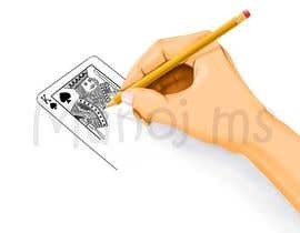"#13 for Illustration of  ""hand drawing a playing card"" by manoms"