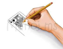 "#21 for Illustration of  ""hand drawing a playing card"" by manoms"