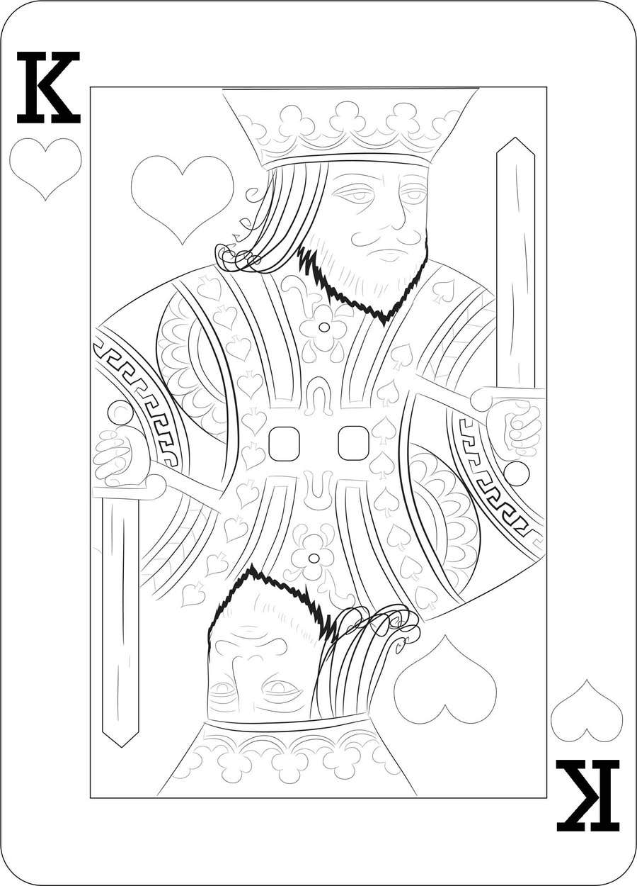 "Inscrição nº                                         1                                      do Concurso para                                         Illustration of  ""hand drawing a playing card"""