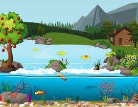 #67 para Background for mystical lake serpent de byteAbug