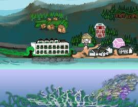 #29 para Background for mystical lake serpent de elenaodbitola9