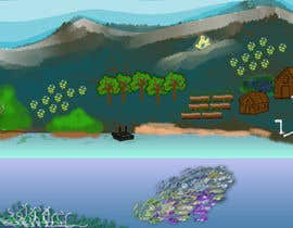 #31 para Background for mystical lake serpent de elenaodbitola9