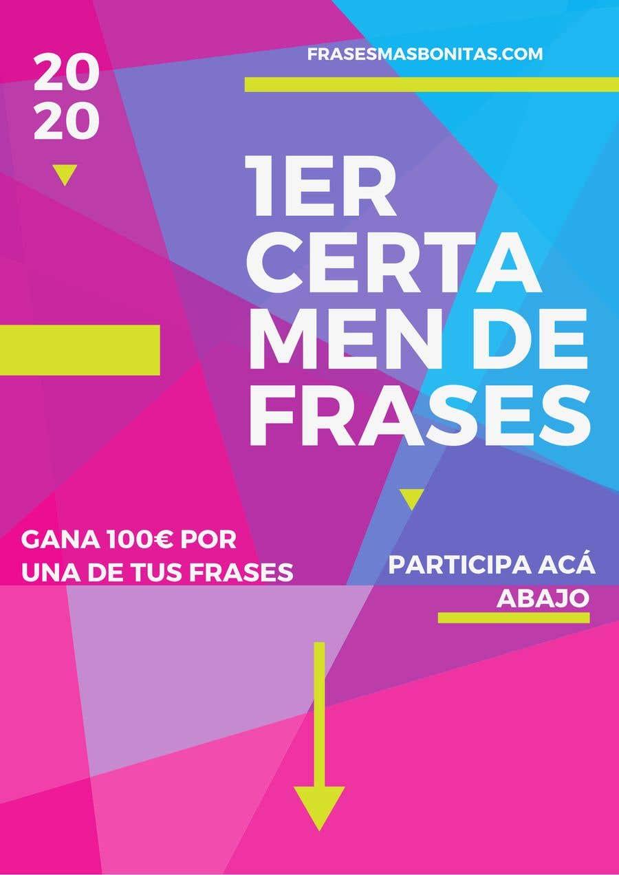 """Participación en el concurso Nro.                                        3                                      para                                         Banner publicitario para certamen de frases """"FrasesMasBonitas.com"""""""