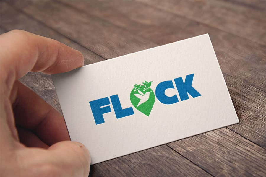 "Конкурсная заявка №                                        248                                      для                                         Logo for a travel app ""Flock"""