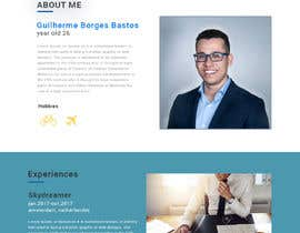 #32 for Build me the design of my personal 'Single Page Resume' website. by sukh1181996
