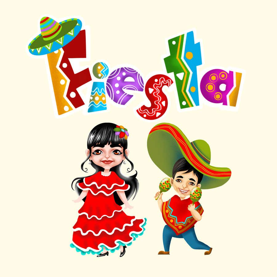 Entry 120 By Surajp0087 For Mexican Fiesta Cartoon Illustration Vector Freelancer