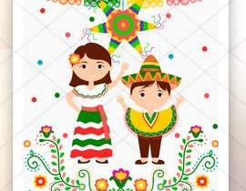 Nro 157 kilpailuun Mexican Fiesta Cartoon Illustration Vector käyttäjältä geandreina9