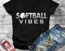 #45 для Baseball/Softball Vibes T-shirt Design от utsabarua