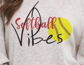 #68 для Baseball/Softball Vibes T-shirt Design от voltes098