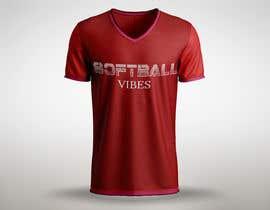 #54 для Baseball/Softball Vibes T-shirt Design от shaongraphics