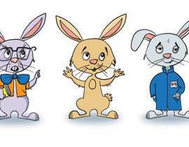 #25 untuk Draw three cartoon bunny characters in 2D as per the description provided oleh graphicart