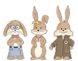 #13 untuk Draw three cartoon bunny characters in 2D as per the description provided oleh Izarti