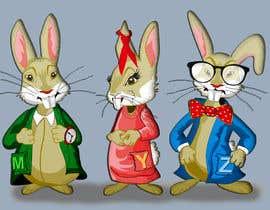 #23 untuk Draw three cartoon bunny characters in 2D as per the description provided oleh maxdim