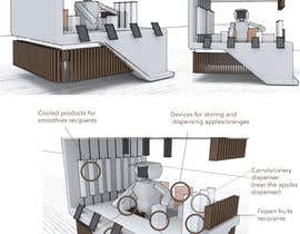 DorianMaftei tarafından Design a kiosk with a human-like robot to make juices and smoothies için no 26