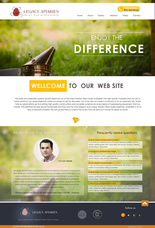 Konkurrenceindlæg #                                        2                                      for                                         Website Design for newly designed beehive eCommerce site
