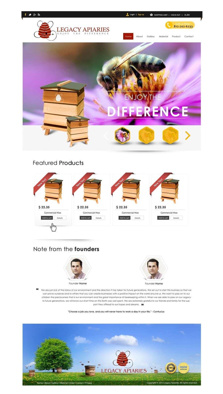 Konkurrenceindlæg #                                        17                                      for                                         Website Design for newly designed beehive eCommerce site