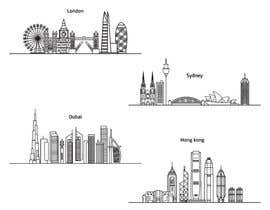 elvin000001 tarafından Image - Graphic of multiple city skylines için no 11