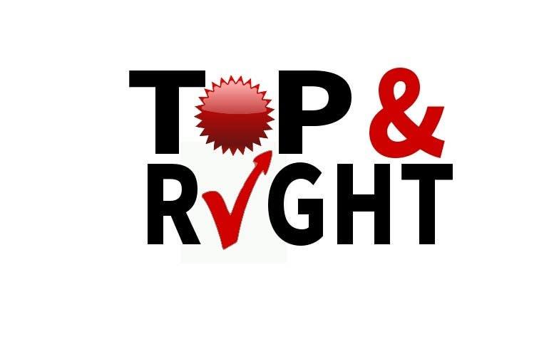 "Penyertaan Peraduan #                                        113                                      untuk                                         Design a Logo for ""Top & Right"""