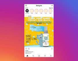 Nro 55 kilpailuun Design me a single promotional flyers for my brand new hand sanitizer for Kids (Instagram post size) käyttäjältä QasimAs