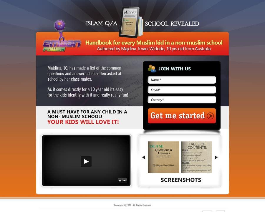 Kilpailutyö #                                        16                                      kilpailussa                                         Landing Page Design For EBook