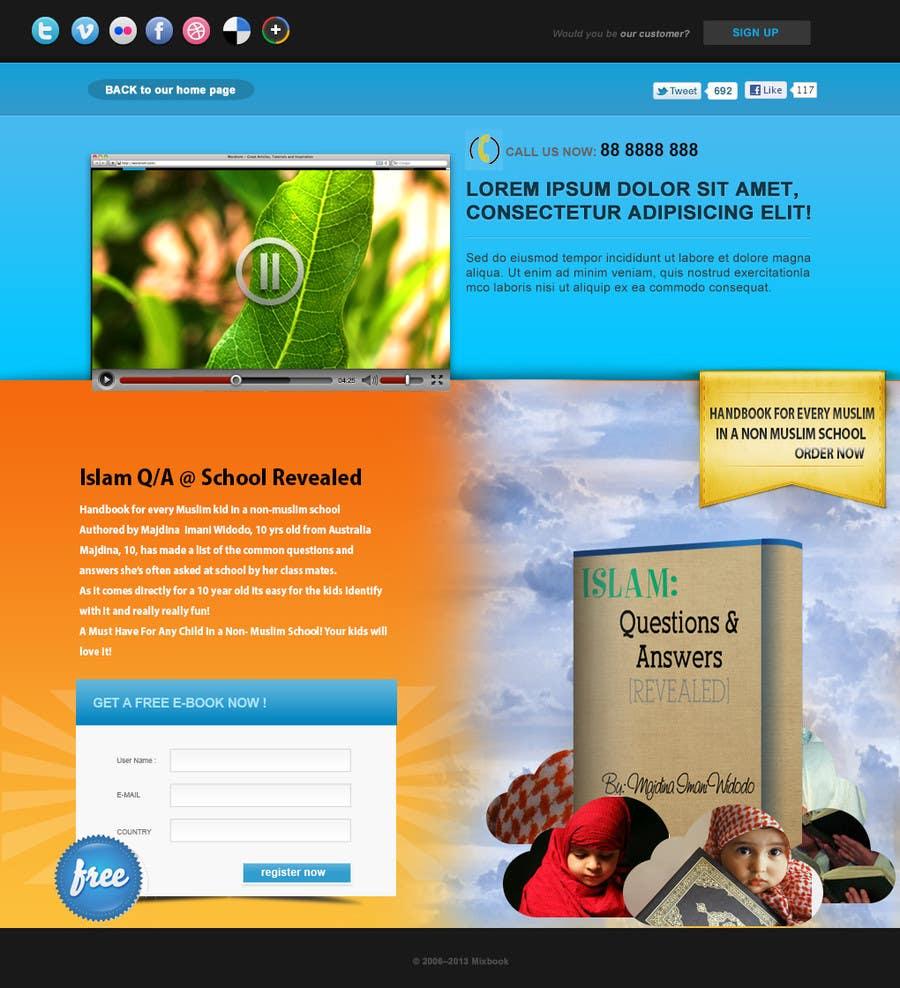 Bài tham dự cuộc thi #                                        9                                      cho                                         Landing Page Design For EBook