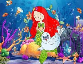 #29 для Cartoon Mermaid Scene от Anwesha11