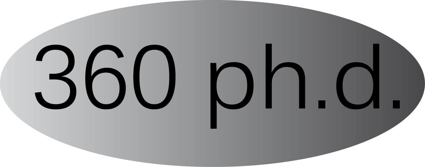 Kilpailutyö #43 kilpailussa Logo Design for 360 ph.d. application