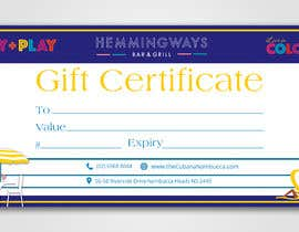 #30 for Create Gift Certificate by sadiasultana282