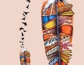 Nro 7 kilpailuun Feather Tattoo Design käyttäjältä Furiku19s