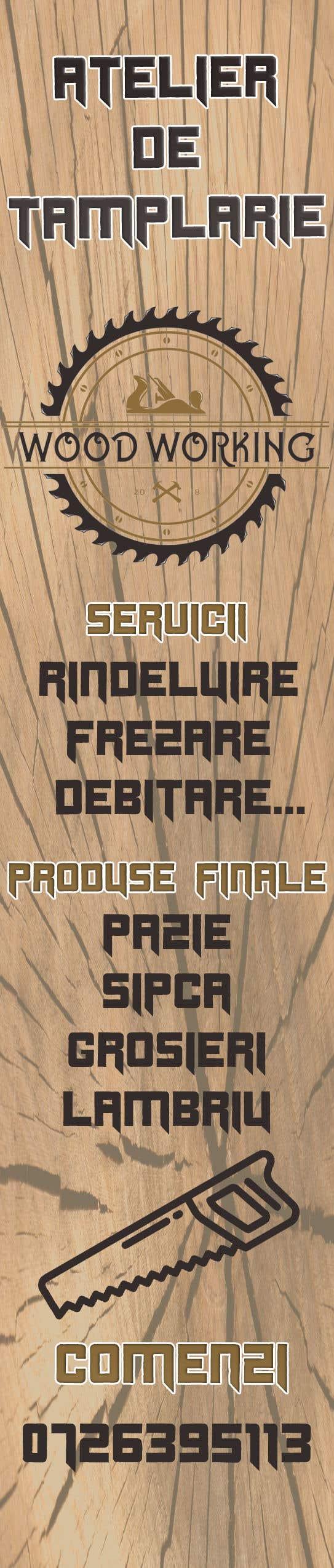 """Intrarea #                                        10                                      pentru concursul """"                                        Creare banner outdoor-  atelier tamplarie lemn                                     """""""