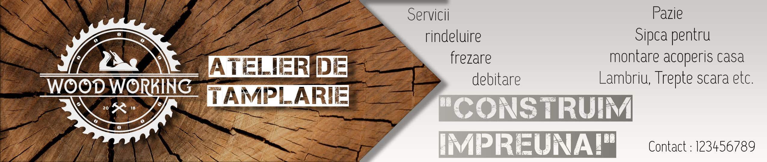 """Intrarea #                                        19                                      pentru concursul """"                                        Creare banner outdoor-  atelier tamplarie lemn                                     """""""
