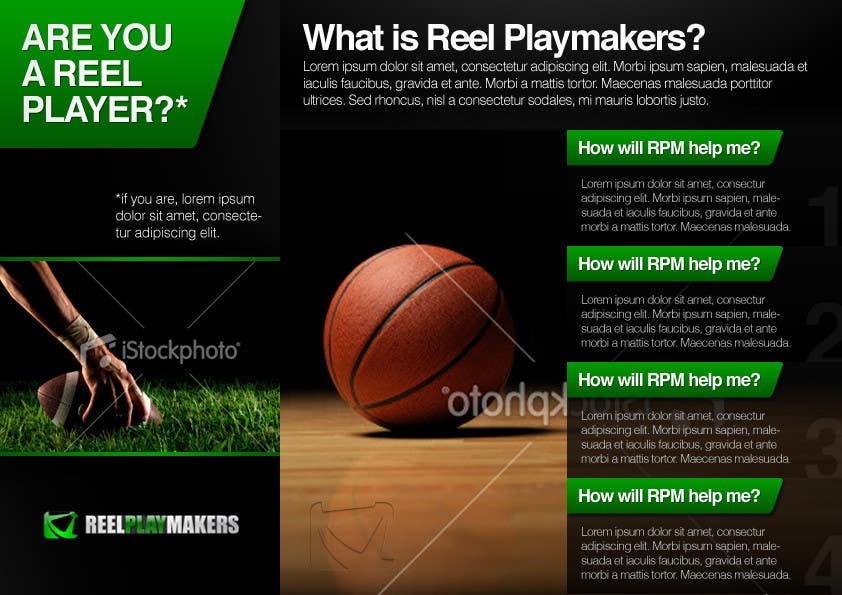 Contest Entry #20 for Print & Packaging Design for Reel Playmakers