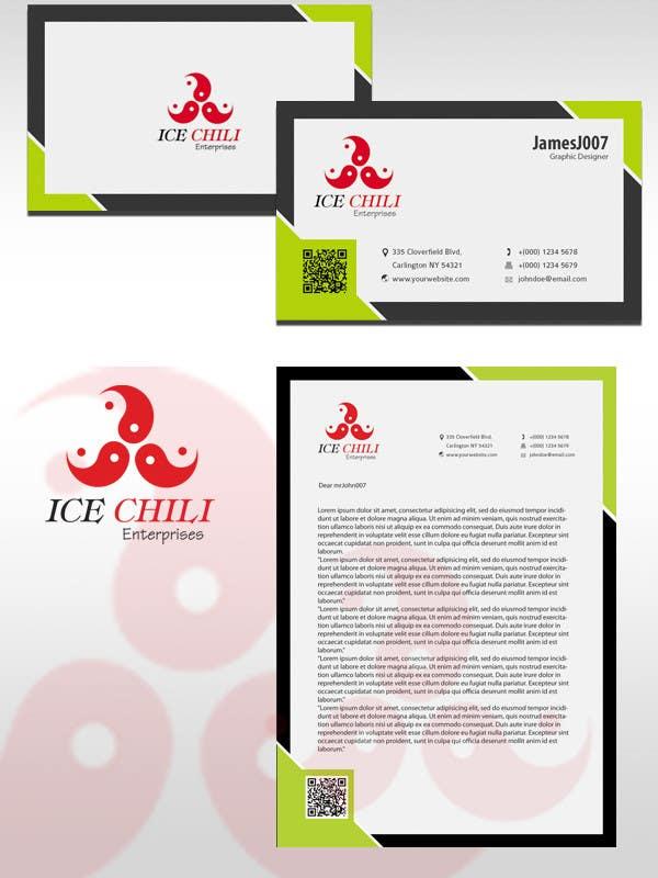 Kilpailutyö #                                        47                                      kilpailussa                                         Logo Design, Letterhead & Business Card for Ice Chili Enterprises