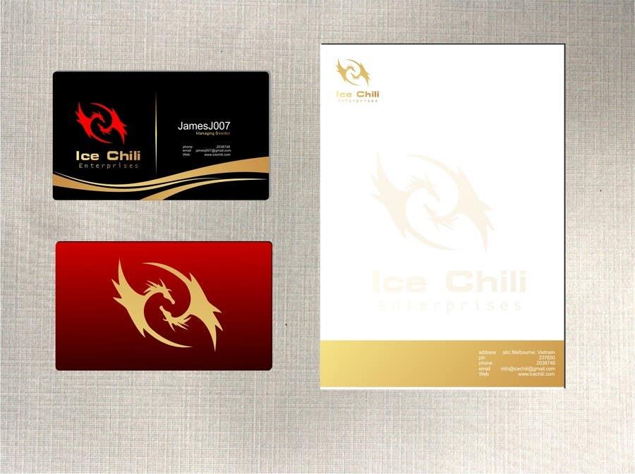 Kilpailutyö #                                        46                                      kilpailussa                                         Logo Design, Letterhead & Business Card for Ice Chili Enterprises
