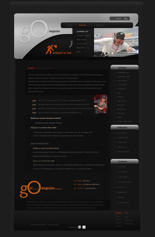 Entri Kontes #                                        32                                      untuk                                        Website Design for GO Magazine