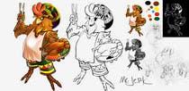 Participación Nro. 19 de concurso de Graphic Design para RASTA CHICKEN AKA MR. JERK!!!