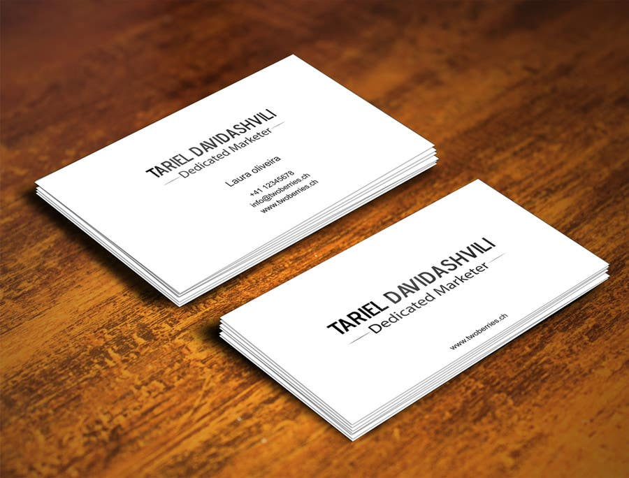 Entry 64 by gohardecent for design some personal business for Titles for business cards