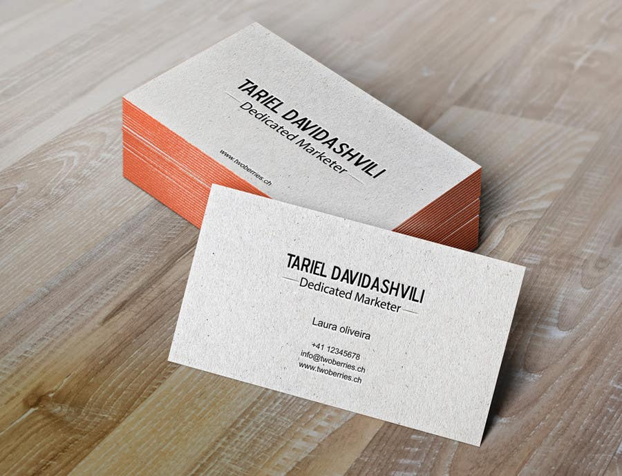 Entry #66 by gohardecent for Design some personal business cards and ...