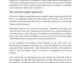 #39 для Content Articles - Importance of Internships on your career от shruti206