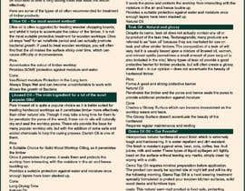 #4 para Infographics for comparison of different Wood Worktop  Oils de arbaazahamad