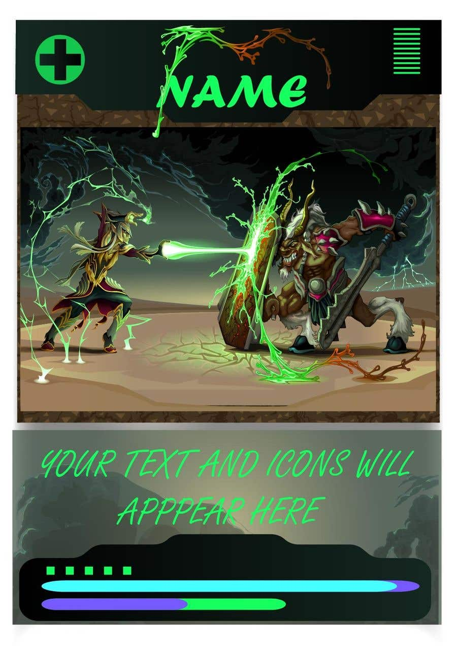 Konkurrenceindlæg #                                        24                                      for                                         Trading Card Game Template Design. Possible Multiple Winners.