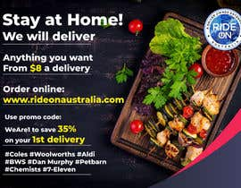 #73 for Direct mail (post card) design for home delivery service by toriqkhan