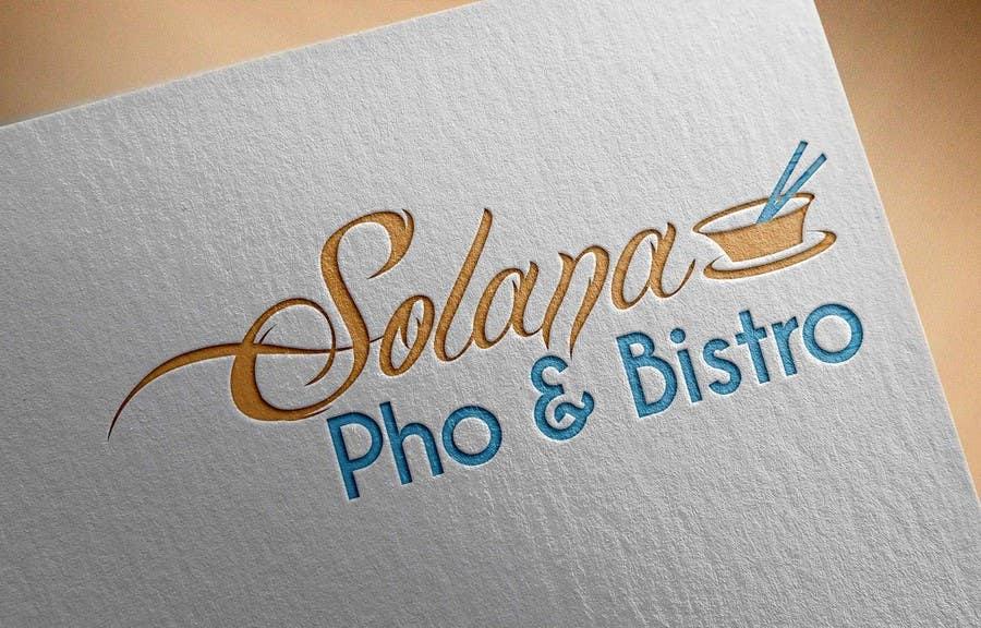 Tävlingsbidrag #20 för Design a Logo for Solana Pho & Bistro