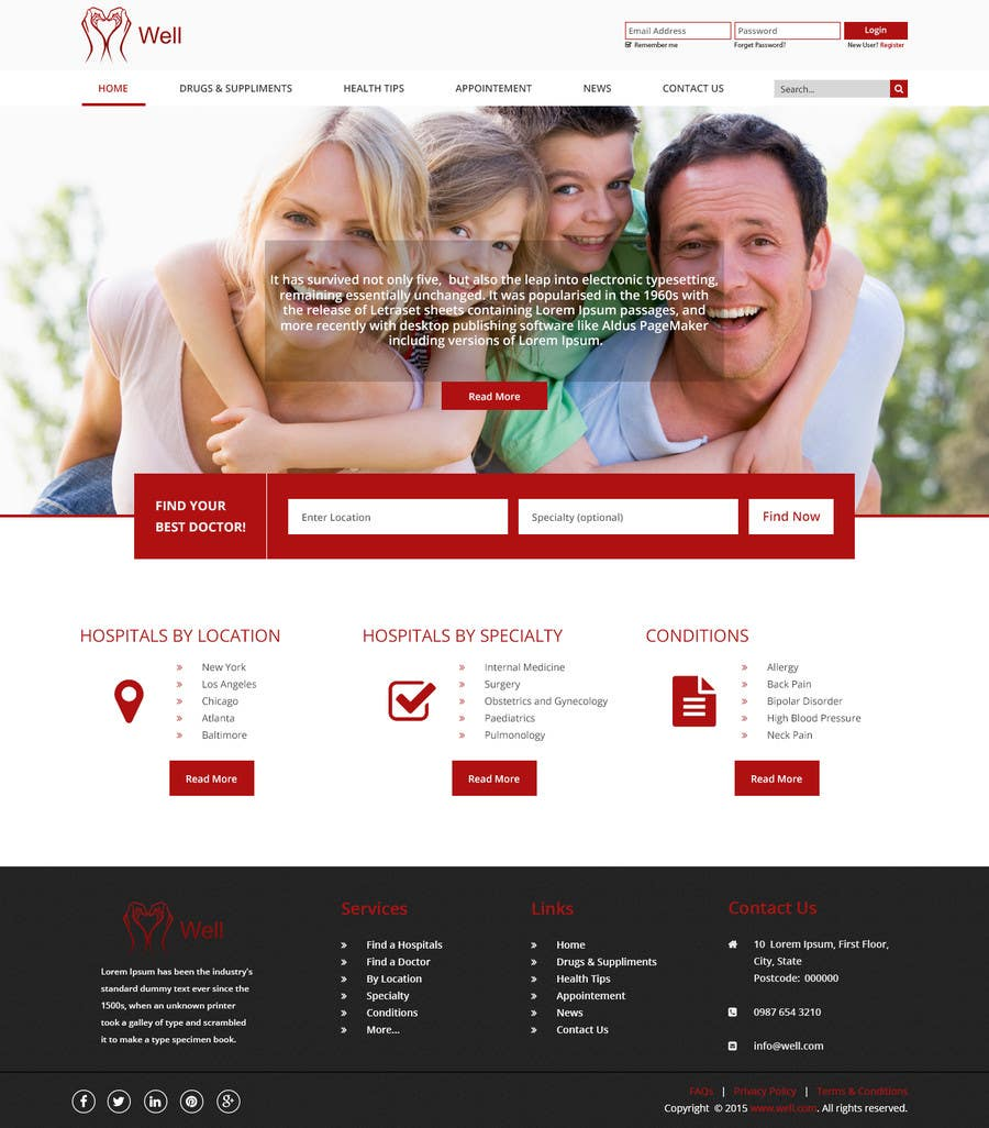 Contest Entry #12 for Design a Website Mockup for an Online Medical Resource
